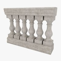 realistic baluster 3D model