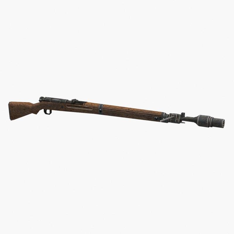 3D type 99 rifle gun