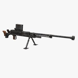 type 97 anti-tank 3D model