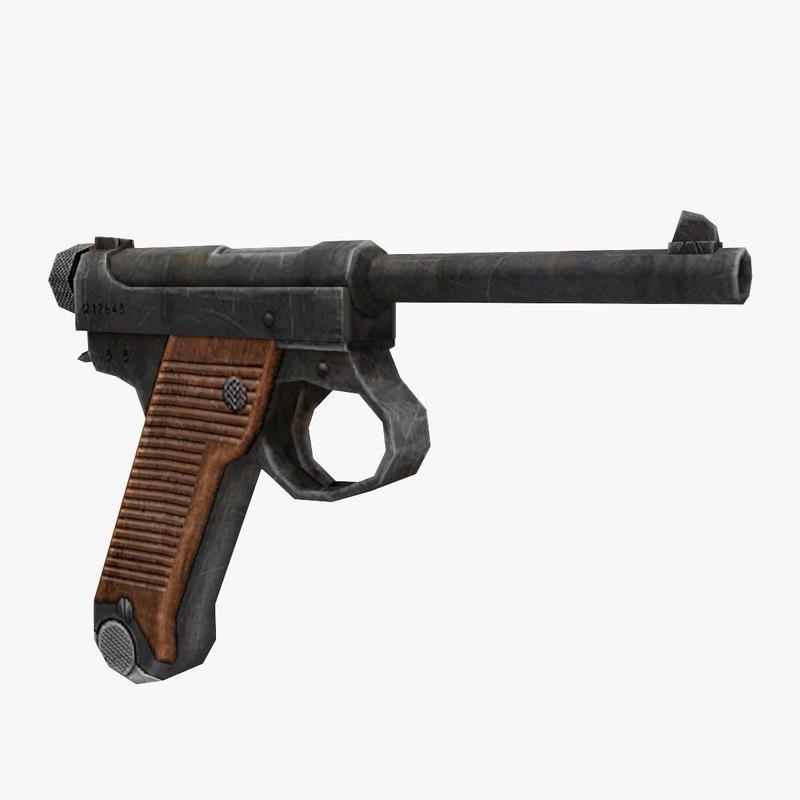 3D model nambu gun