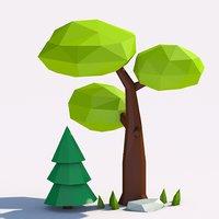 3D nature scene