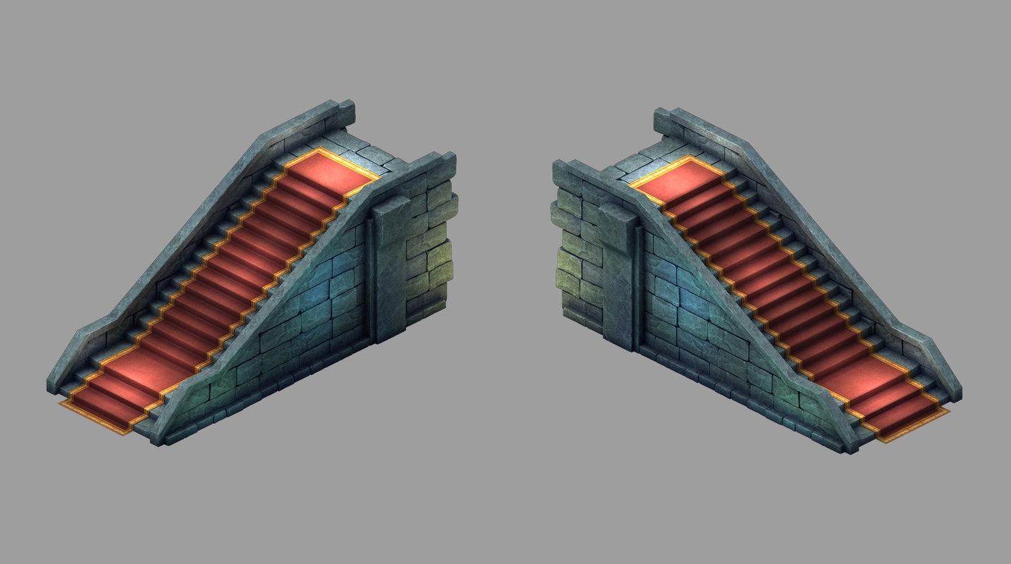 palace - stone ladder 3D model