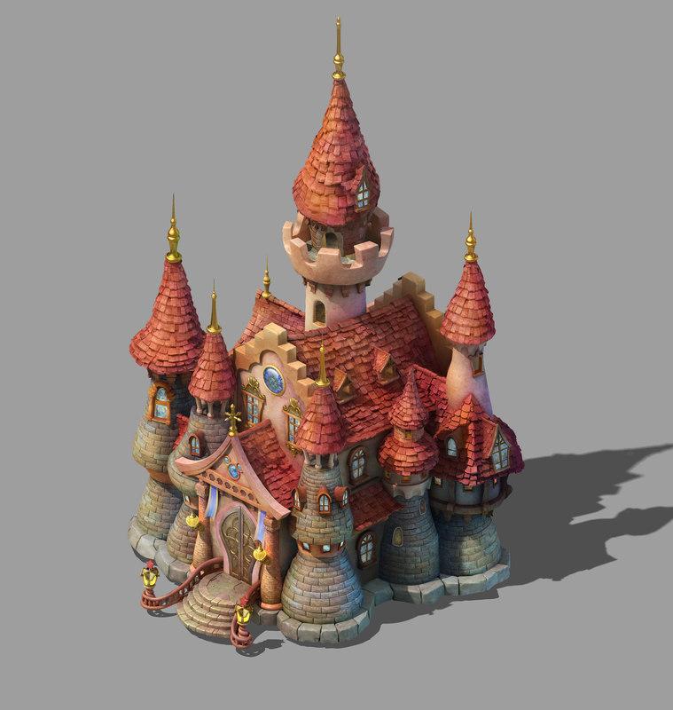 3D main city - castle model