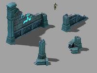 3D model underground palace - remaining