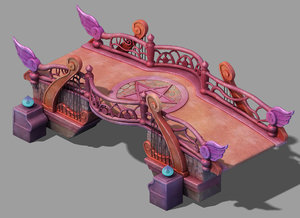 3D model main city - pink