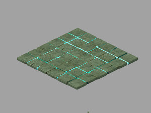 3D underground palace - ground model