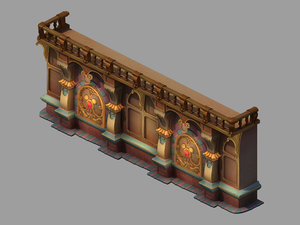 3D model interior wall 02