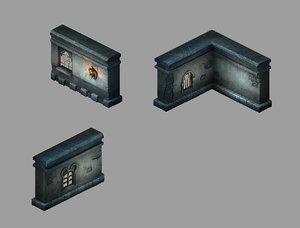 3D palace - stone wall