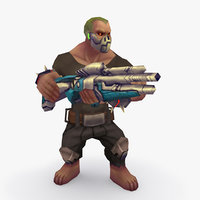 rigged character type o 3D model