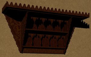 furniture shelves 3D model