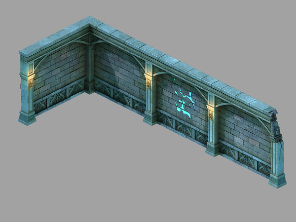 palace - earth wall 3D model