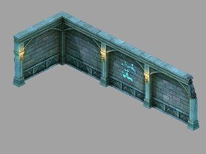 palace - earth wall 3D model