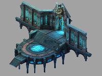 3D model palace - temple 01