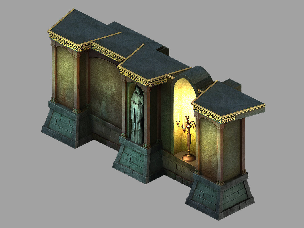 underground palace - wall 3D model