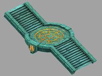 underground palace - passage 3D model
