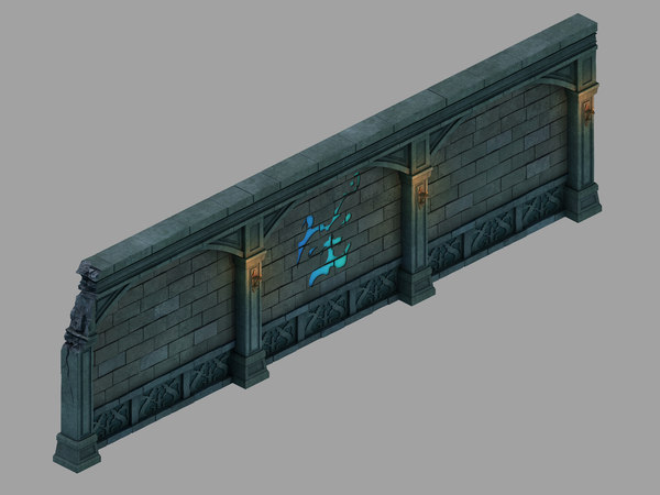 3D underground palace - wall model