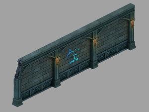 3D underground palace - wall model