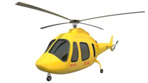 3D helicopter ambulance model