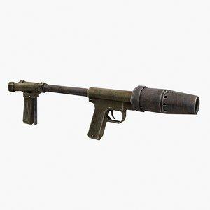 flamethrower gun 3D