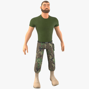stylized soldier - pbr 3D model