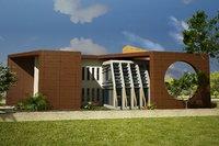 3D scene house design building walls