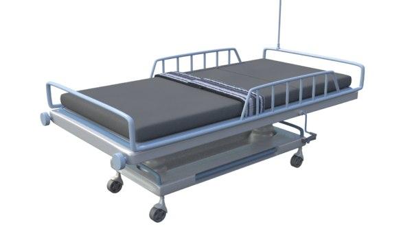 3D model patient trolley bed