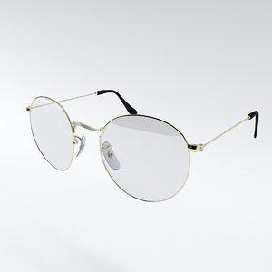 3D glasses gold
