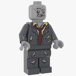 lego zombie 3D model