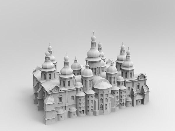 3D kyiv saint sophia s cathedral