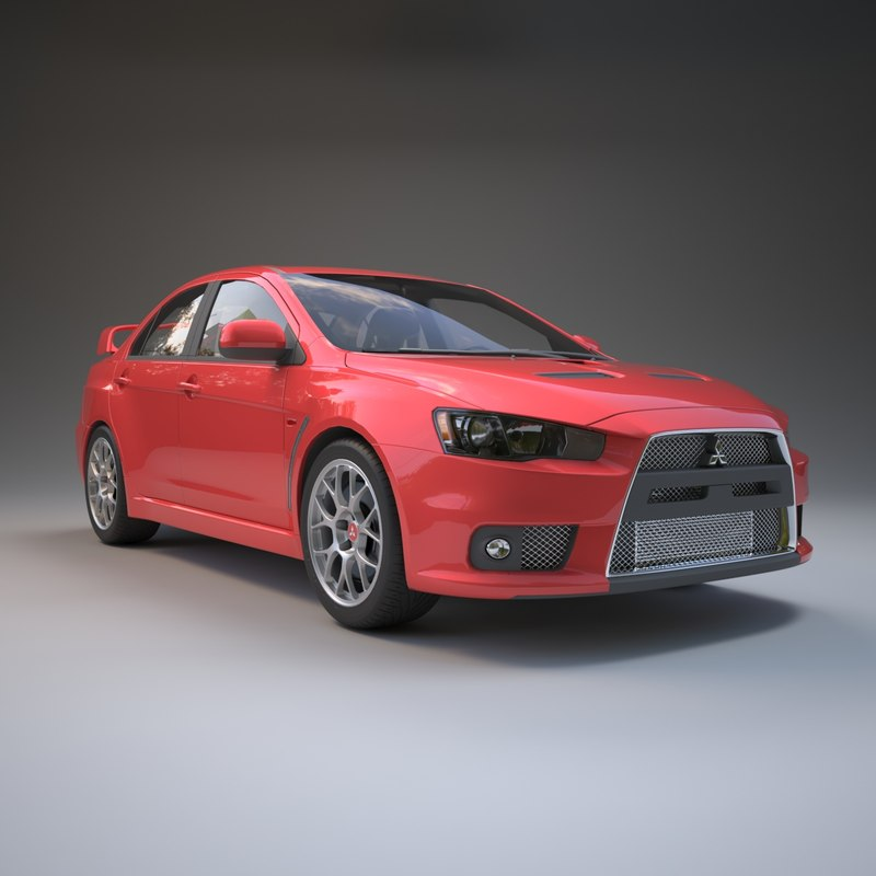 Used Evo X Turbo For Sale: Lancer Evo X 3D Model