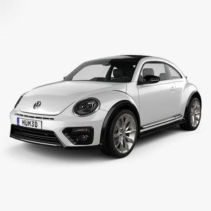 volkswagen r-line beetle 3D model