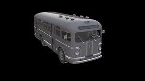 3D zis-155 soviet bus model