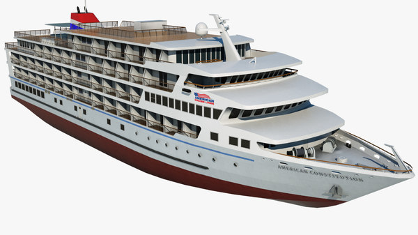 cruise american constitution ship 3D