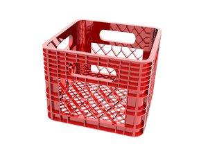 plastic crate 3D