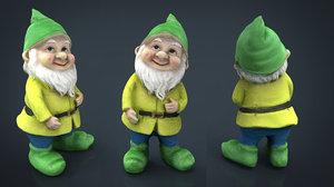 3D garden gnome 4 model