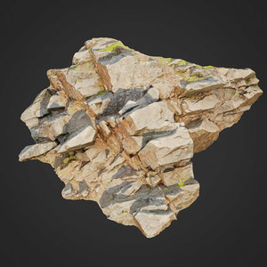 scanned cliff face o 3D model