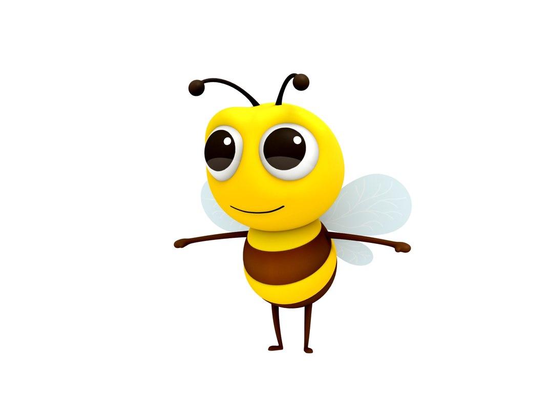 3D bee character cartoon