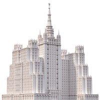 historical building stalinist 3D model