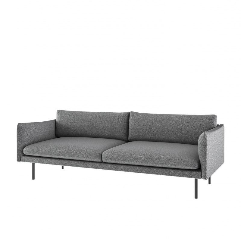 3D sofa - wasat highpoly model