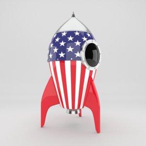 rocket toy 3D