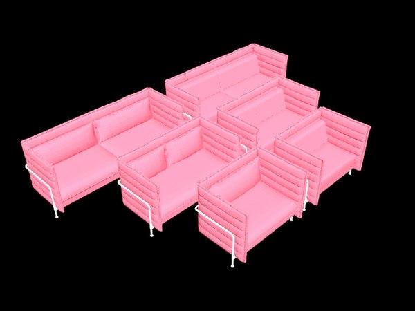 alcove sofa ronan erwan 3D model