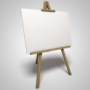 art easel 3D