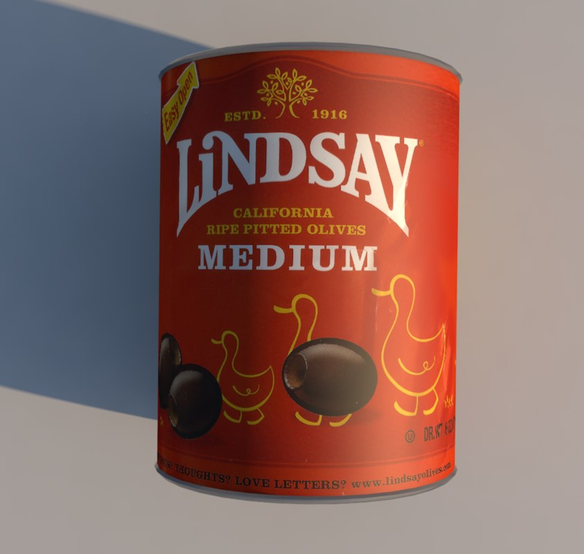 lindsay olives canned food 3D model