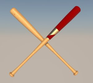 bat baseball 3D model