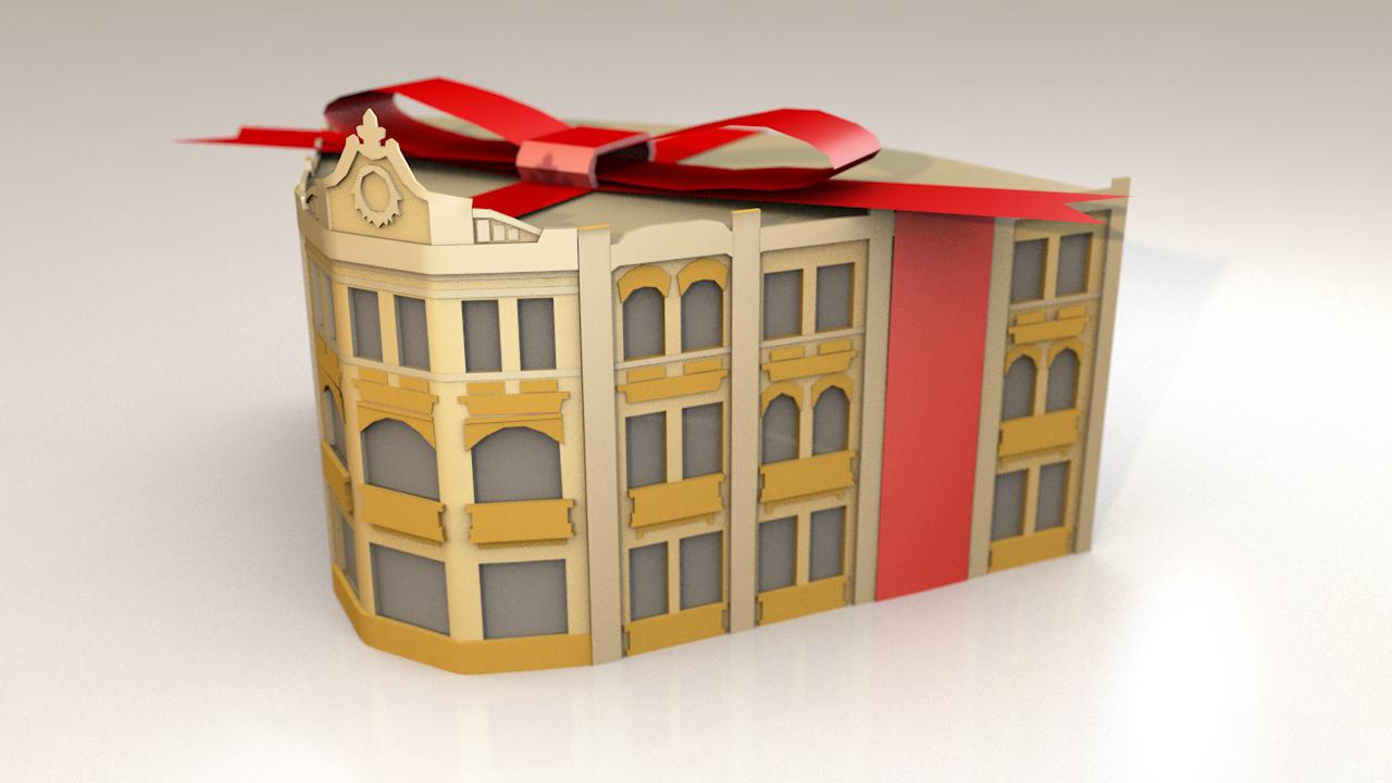 paper craft castle model