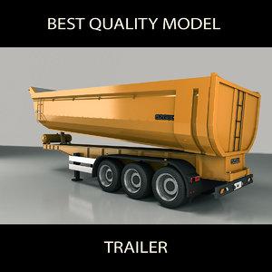 dump trailer 3D model