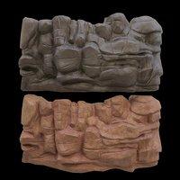 cartoon stone 3D model