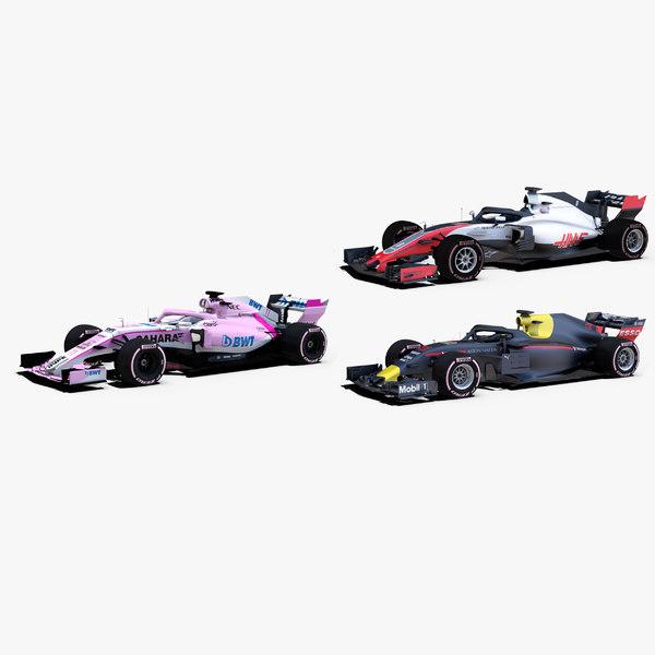 formula 2018 cars 1 3D model