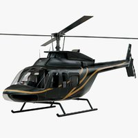 3D realistic bell 407 rigged model