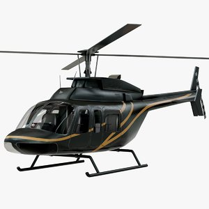 3D realistic bell 407 helicopter